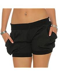 Malito Damen Shorts in Unifarben | lässige Kurze Hose | Bermuda für den Strand | Pants - Hotpants 6087