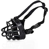 Bozal para Perro - Corteza Anti-Mordaz Ajustable Perros Bozales Máscara Cesta para Perros Grandes Golden Retriever,Black,XXL