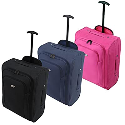 FlyGEAR Cabin Approved Lightweight Hand Luggage Travel Holdall Wheeled Suitcase Bag Fits Ryanair Easyjet And Many More - 1.4k - 40 Litres