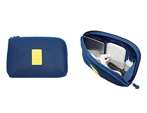 THEE Damen Elektronikzubehör Tasche Kabel Beutel Kosmetiktasche Aufbewahrungstasche für Powerbank, USB Sticks, Ladegerät, Universaltasche