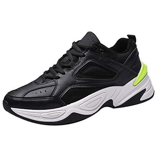 Beikoard-scarpa da Corsa per Uomo Outdoor Walking Sneakers Scarpe comode da Atletica per Uomo Sport(Nero,41)
