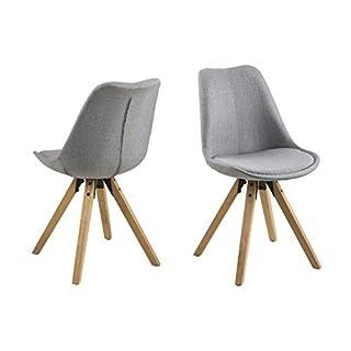 Movian Tima - Lot de 2 chaises de salle à manger, gris clair