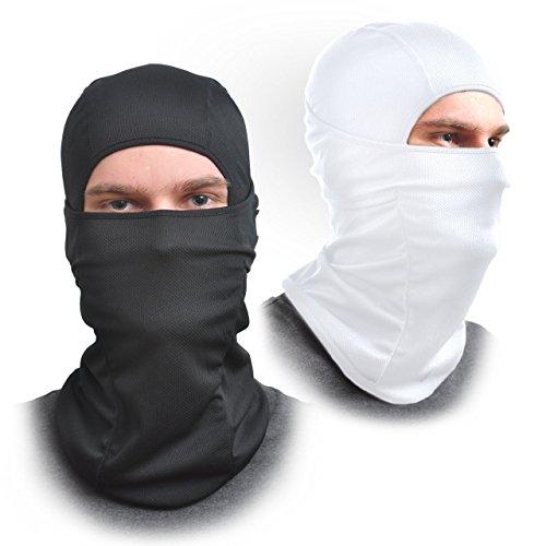 [2Pack] Sturmhaube Face Maske–Eine Größe Passt Alle elastischen Stoff–Schützt vor Wind, Sonne, Staub–Ideal für Motorrad, Gesicht Maske für Ski, Radfahren, Laufen und Wandern–Sommer oder Winter Gear