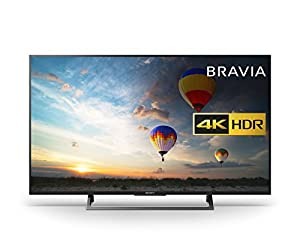 Sony Bravia KD43XE8004 43 inch TV (4K HDR Ultra HD, Android TV, X-Reality PRO, Triluminos Display, Youview and Freeview HD - Black (2017 Model)