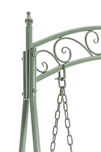 CLP Garten Hollywoodschaukel YLENIA, 2 Sitzer / 3 Sitzer, Landhaus-Stil, Metall (Eisen), bis zu 6 Farben wählbar antik-grün - 4