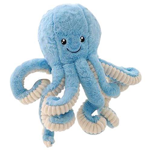 Regalos de juguetes de peluche de pulpo Octopus ballena muñecas juguetes de peluche de felpa pequeño colgante animal de mar del bebé Juguetes para niños (azul)