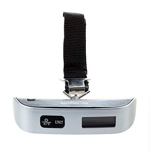 TOOGOO (R) 50kg x 50g LCD digitale Bilancia Termometro portatile bagagli