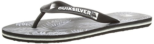 Quiksilver Molokai Art, Infradito uomo Grigio Grey (Black/Grey/White) EUR 40