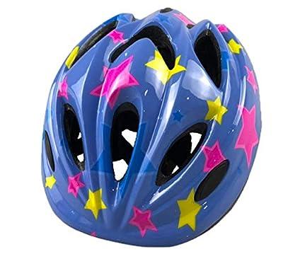 Sodhue Cycle Helmet Safety Bike Helmet Adjustable Skateboard Helmet with Star Multi-Sports Skating BMX Cycling Roller Skate Impact Resistance Helmet for Boys Girls Children(Blue/White/Red/Black/Pink) by Sodhue