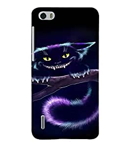 EPICCASE Scary Cat Mobile Back Case Cover For Huawei Honor 6 (Designer Case)