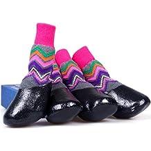 zapatos de mascota,RETUROM Zapatos antideslizantes calientes del calcetín impermeables vendedores calientes para el perro de animal doméstico (XL, Multicolor)