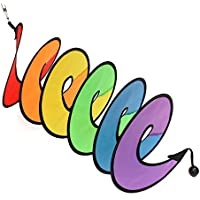 LQZ Windspiel Spiralwindspiel Twister Regenbogen für Camping