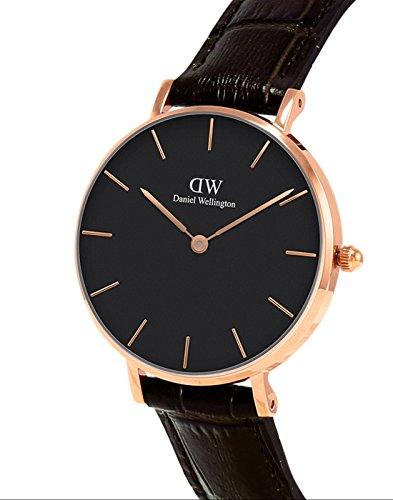 54457dc31 Daniel Wellington Reloj Analógico para Mujer de Cuarzo con Correa en Cuero  DW00100170 | Relojes en España