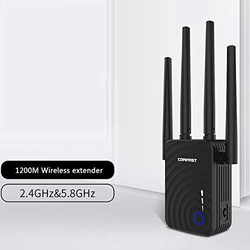 WILL 1200m Vier-Antennen-Repeater Dual-Band Extender-Signalverstärker Access Point-Modus 2,4 GHz 5 GHz mit WPS-Funktion 4-zonen Expander
