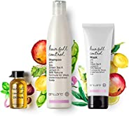 Brillare Anti Hairfall Treatment Combo for Weak & Undernourished Hair, Shampoo, Conditioner and Oil shots