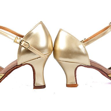 Femme Latin Banquet Room Chaussures De Danse Or