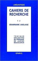 Cahiers rech gramm angl t 2
