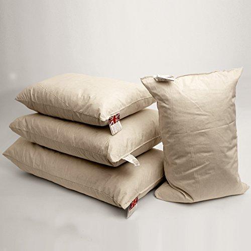 Weiden Direct 35,6x 50,8cm (35cm x 50cm) 2Stück Natur gefüllt mit Entenfedern Rechteck Abdeckung Boudoir Innenkissen-Einsatz mit Bezug aus Baumwollbatist, rechteckig -