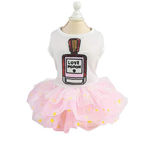 Hund Kleid Für Hund Kleidung Prinzessin Rock Kleine Katze Kleider Frühling Sommer Lustige Haustier Kleidung,Pink,XS ()