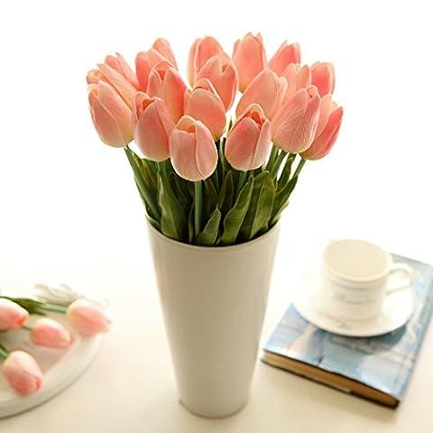 10PCS Künstliche Real Touch Tulip Blumen für Zuhause Garten Hochzeit Bouquet Dekoration und Valentinstag Geburtstag Weihnachten Geschenk rose
