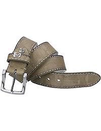 Cinturón hombre SERGIO TACCHINI beige con pespuntes laterales VR1373
