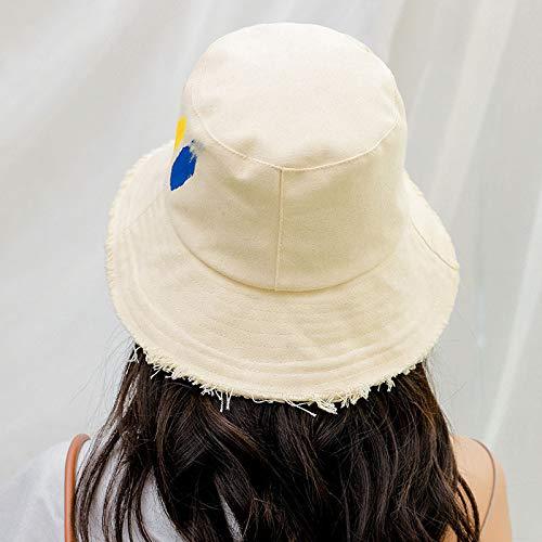 zhuzhuwen Fisherman Hat Japanische Literatur und Kunst für Frauen Sunscreen Sun Hat Damenhut 4 Einheitsgröße (Tupperware Cupcakes Für)