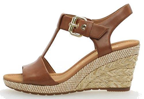 Gabor Shoes Comfort Sport, Sandales Bride Cheville Femme Marron (Peanut Bast)