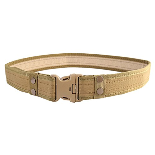 Imported Tactical Outdoor Military Security Utility Nylon Duty Pants Belt Khaki