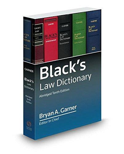 Black's Law Dictionary 10th; Abridged by Bryan A. Garner (2015-05-18)