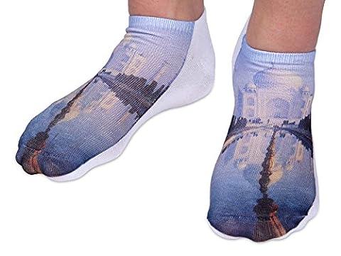 Chaussettes courtes: Socquettes avec motifs Taille: 36 - 39 pour femme ou Ados fille garçon Une petite touche d'humour, d'amour, de tendresse, de fantaisie, et surtout d'originalité, choisir:mosquée SO-99
