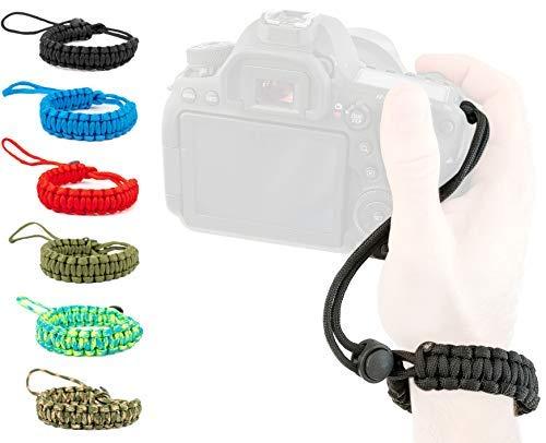 Lens-Aid Handschlaufe für Kamera: Paracord Kordel Wrist-Band Kameragurt zum Tragen am Handgelenk DSLR Tragegurt - Aid Band