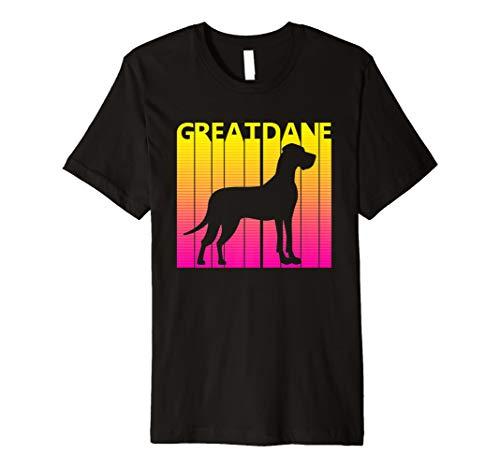 Retro Deutsche Dogge T-shirt Geschenk - Great Dane -