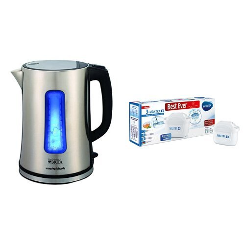 -[ Morphy Richards Brita Electric Filter Kettle - Brushed Stainless Steel  ]-