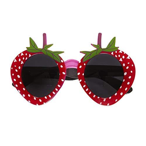 NET TOYS Retro Erdbeer-Brille | Rot-Grün | Hinreißendes Damen-Accessoires freches Früchtchen | Der Hit für Mottoparty & Karneval