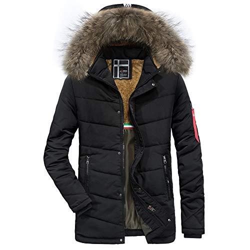 Luckycat Männer Wintermode Kaschmir verdickt Taschen Baumwollmantel Outwear atmungsaktiv Mantel Winterjacke Steppjacke Daunenjacke Parka...