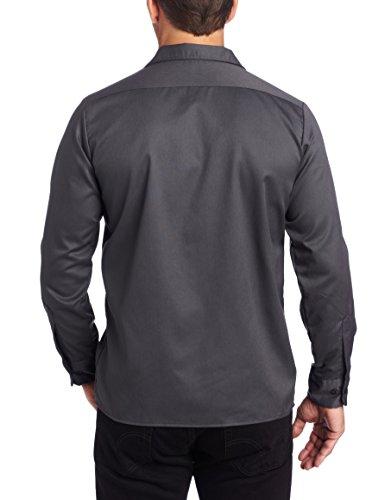 Dickies Herren Freizeithemd Streetwear Male Shirt Long Sleeve Slim Grau (Charcoal Grey Ch)