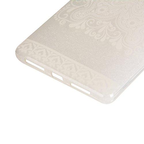Feeltech Coque Apple iPhone 6/6S 4.7 Pouce en Silicone, Etui de Protection Flexible Anti-choc Résistant aux Rayures [Gratuit Noir 2 en 1 Stylet] Ultra Mince Souple TPU Pare-choc Transparent Protecteur Papillon Blanc
