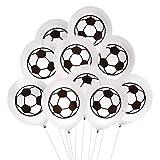Oblique Unique 10 Fußball Luftballons für Kinder Geburtstag WM Weltmeisterschaft Party Deko Ballons Spielen Schwarz Weiß