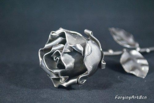 "Rosa Eterna Forjada sin peana ""Ideal para regalo del Día de la Madre, Sant Jordi, San Valentín, Novia, Pareja, Cumpleaños, Navidad"""