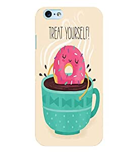 Citydreamz Treat Yourself/Quotes/Food/Coffee/Tea Hard Polycarbonate Designer Back Case Cover For Apple Iphone 5/5S