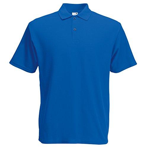 Fruit of the Loom Herren T-Shirt Original Polo Blau (Königsblau)