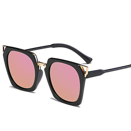 FERFERFERWON Unisex-Sonnenbrillen, Platz Sonnenbrille Frauen männer Fahren 2017 männliche luxusmarke Sonnenbrille für Frauen Designer cool Shades Spiegel Retro (Farbe : JH15709 C2)