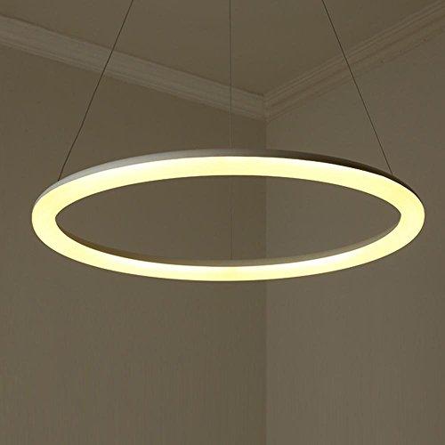 Moderne Creative Runde Pendelleuchte Elegante Acryl Lampenschirm Mode  Aluminum Hoch Enstellbar Hängende Lampe Esszimmer Studie Korridor