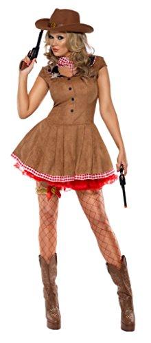 Smiffys Fever Cowgirl Kostüm, Größe (Kostüme Cowgirl Sexy Adult)