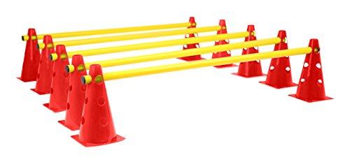 Set corsa ad ostacoli per esercizi di coordinazione VINEX - giallo/rosso