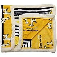 Luvlap Newborn Baby Super Ultra Soft Baby Blanket, Yellow Giraffe (110cm x 130cm)