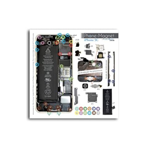 Patron magnétique d'aide au montage pas à pas pour iPhone 5C pour ne plus perdre vos vis et les petits élements lors vos réparations. Un Produit exclusif