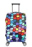 Il copri valigia in spandex è un oggetto divertente che ha molto senso 1.Questa cover aiuterà a proteggere il vostro prezioso bagaglio da bozzi e graffi ed il prodotto stesso è lavabile. 2.Adorerete il design con colori sgargianti, e sicurame...