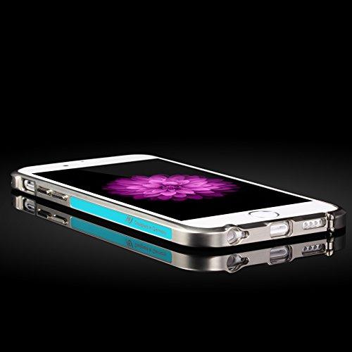 Original UrCover® Mirror Spiegel Schutz Hülle Aluminium Bumper für Apple iPhone 6 Plus / 6s Plus (5.5 Zoll) Zubehör Hülle Etui Spiegelhülle Case Cover Alu Cover Meta [deutscher FACHHANDEL]l Rosa Blau