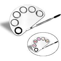 PIXNOR trucco tavolozza trucco Nail art Manicure artista strumento in acciaio inox cosmetici Palette con spatola strumento